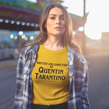 Written and directed by Quentin Tarantino T-shirt, Tarantino Shirt, Quentin Tarantino Tshirt, Yellow Shirt, Unisex Graphic tshirt