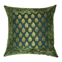 Decorative Silk Brocade Throw Floral Pillow Cover