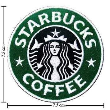 Starbucks Coffee Logo Embroidered Sew Iron on Patches Great Gift for Dad Mom Man Woman