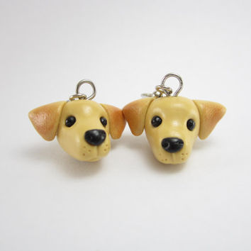 Labrador Dog Dangle Earrings - Dog jewelry