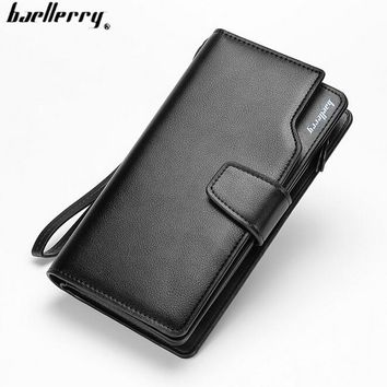 Baellery Men Wallets Casual Wallet Men Purse Clutch Bag Brand Leather Long Wallet Design Hand Bags For Men Purse Clutch Bag