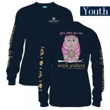 "*Closeout* Youth Simply Southern Long Sleeve - ""Whoo"""