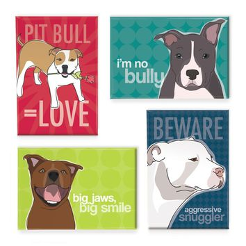 4 Pit Bull Magnets