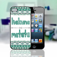 Hakuna Matata Aztec Art, iPhone 4 Case, iPhone 4S Case, iPhone 5 Case, iPhone Case Cover