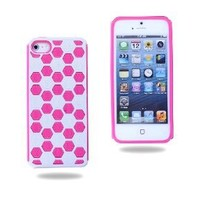 i-UniK iPhone 5 (All Carriers) Pink On White Honeycomb PC + TPU Dual Layer Hybrid Smart Phone Protection Case: Patio, Lawn & Garden