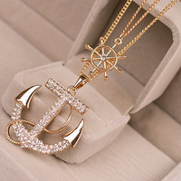 Pacific Breeze Anchor Necklace