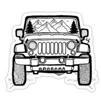 'Jeep Adventure' Sticker by irish.kate art