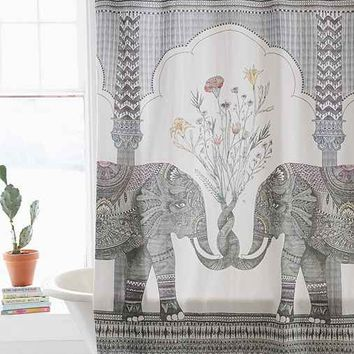 Magical Thinking Elephant Shower Curtain