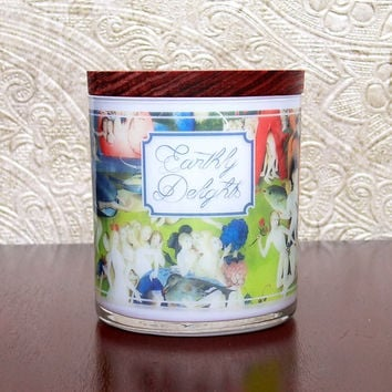 EARTHLY DELIGHTS Candle 9oz, Werther & Gray, Soy Blend Scented Candle, Garden of Earthly Delights, Art History, Hieronymus Bosch Renaissance