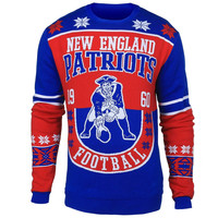 New England Patriots Forever Collectibles KLEW Retro Sweaters w/ Priority Shipping