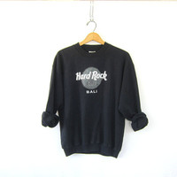 Vintage Hard Rock Cafe sweatshirt. Bali novelty shirt. black sweater / S M L