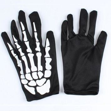 ac DCCKO2Q Punk Black Dancing Skeleton Gloves Devil Skull Gloves Hip Hop Finger Gloves Halloween Costume Masquerade Party Gifts