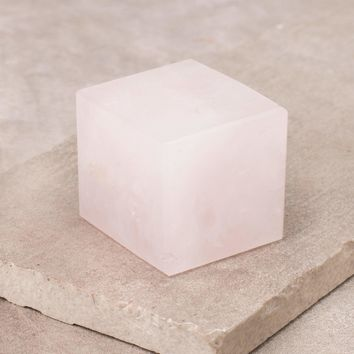 Rose Quartz Gemstone Cube