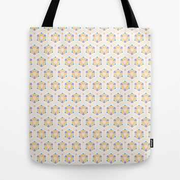 Abstract Geometric Kids Pattern Tote Bag by Cinema4design