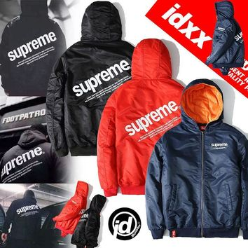 "Men's Fashion ""Supreme"" Winter Hats Outdoors Sports Thicken Jacket [103863615500]"