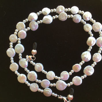 White Eyeglass Chain