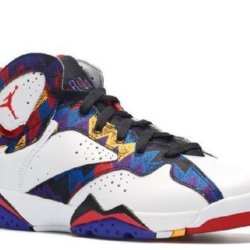 PEAPN Ready Stock Nike Air Jordan 7 Retro (gs) Nothing But Net Basketball Sport Shoes