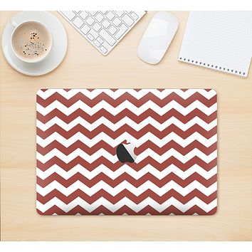 "The Maroon & White Chevron Pattern Skin Kit for the 12"" Apple MacBook"