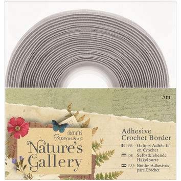 Papermania Nature's Gallery Adhesive Crochet Border 5m-