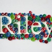 Custom Name Art, Paper quilling, Monogram Name/Word Art, OOAK Wall Art, Bespoke, Personalized Gift, Home Decor, Canvas Art, Made to Order