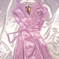 SWEET LORD O'MIGHTY! SPOILED BABY SILK DRESS IN LILAC