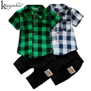 Summer Baby Boy Clothes Sets Short Sleeve Sport Suit Children Clothing Boys Set Cotton Outfit Suit Costume For Kids Clothes