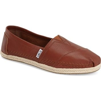 TOMS 'Classic - Leather' Espadrille Slip-On (Women) | Nordstrom