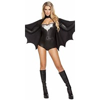 Sexy Bat Romper Halloween Costume