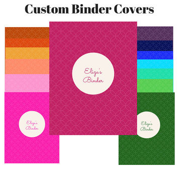 Printable Custom Color Preppy Binder Cover Sets | Custom Binder Insert  | Binder Insert | Custom Printable Binder Cover | Teacher Journal
