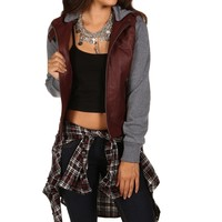 Sale- Burgundy Fall Favorite Leather Jacket