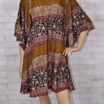 Soft & Sweet Mixed Print Dress- Jodifl- Black/Olive Mix