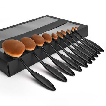 Professional Brushes Tooth Shape Oval Makeup Sets