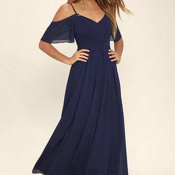 Ways of Desire Navy Blue Maxi Dress
