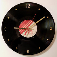 TAYLOR SWIFT Vinyl Record Wall Clock (Red)