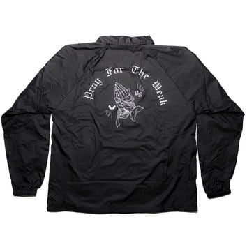 Pray for the Weak Coach Jacket - Black