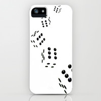 Tumbling Dice Chain White iPhone & iPod Case by Brian Raggatt