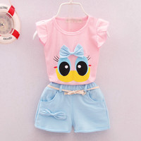 2017 0-3T Summer Baby Girls T Shirt Shorts Sets Fashion Casual Suit Newborn Kids Clothes Little Girl Tracksuit Children Clothing