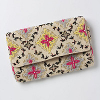Tetrapoint Embroidered Clutch