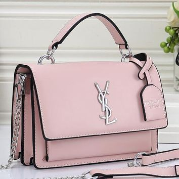 YSL Yves Saint Laurent Women Fashion Pattern Crossbody Shoulder Bag