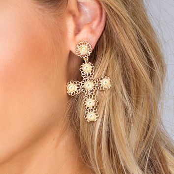 Aveline Cross Earrings