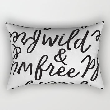 Wild & free Rectangular Pillow by printapix