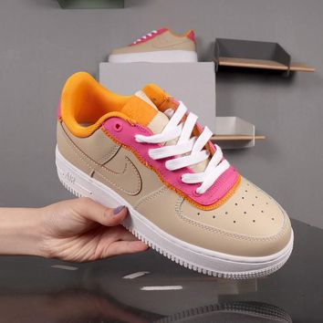 Nike Air Force 1 Low SE White Pink Khaki Yellow AF1 - Best Deal Online