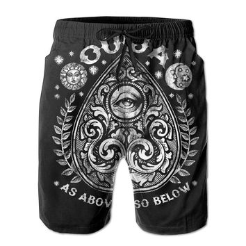 Victorian Ouija Planchette Mens Fashion Casual Beach Shorts
