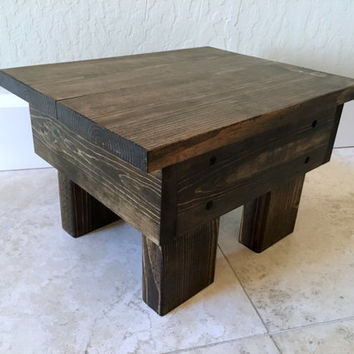 Rustic step stool, wood step stool, childrens foot stool, kids step stool, bathroom step stool, solid wood, kitchen step stool