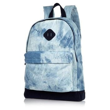 Denim Acid Wash Backpack