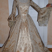 Elizabeth Swann gown Pirates of the Carribean Custom Fantasy Gown Your Size/color