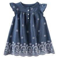 OshKosh B'gosh Flower Chambray Dress - Baby Girl, Size: