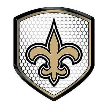 New Orleans Saints Team Shield Reflector Emblem Decal Sticker Auto Home Football