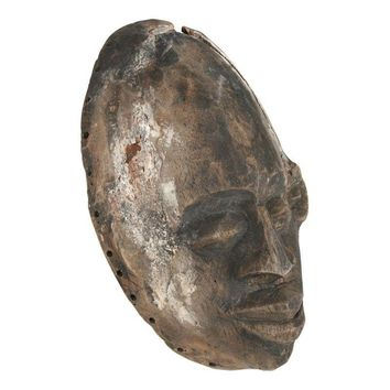 Pre-owned African Wood Mask
