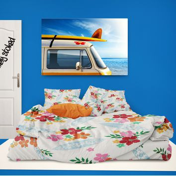 "Surfer Girl Comforter ""Hawaiian Surf"" from Surfer Bedding Eco Friendly Collection"